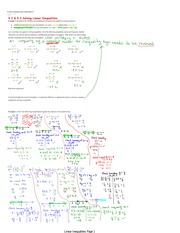 Solving Linear Inequalities Notes