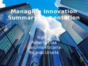 Managing Innovation Presentation