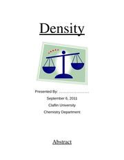 Lab Report: Density