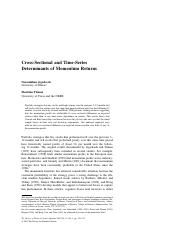 Jegadeesh_Titman - Cross Selectional and Time-Series Determinants of Momentum Returns.pdf