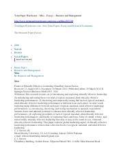 Term Paper Warehouse - Miss -Essays - Business and Management - Psyhuan5