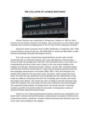 THE COLLAPSE OF LEHMAN BROTHERS.docx
