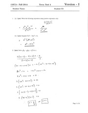 Midterm Test: Solutions