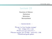 Lecture 23-Rxns of alkynes