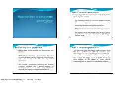 L5 - Approaches to corporate governance