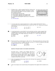 physics ch22 test problems