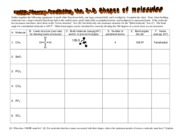 VSEPR-worksheet-answers - Gather together the following equipment 6 ...