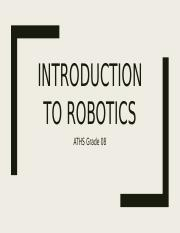 Introduction to Robotics - Mod 1 G08.pptx