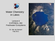 Chemistry in Lakes