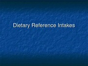 PUBH 1517 - Dietary Reference Intakes