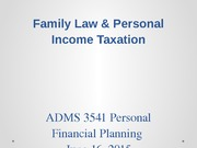 Week 5 - Family Law  Intro to Tax