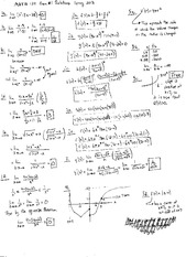 Exam A Solutions on Calculus and Analytic Geometry