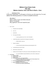 Midterm Exam Study Guide