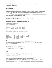 STAT 462 - HW 3 Solution Key