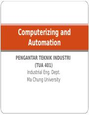 Pengantar Teknik Industri - 07 - Computerizing and Automation.ppt