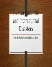 Human Epidemic and International Disasters.pptx