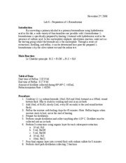 lab report for n butyl bromide preparation Home » organic chemistry » preparation of 1-bromobutane sunday, march 20, 2016  we must understand the procedure well enough to be able to go to then lab, get set up and execute the necessary steps quickly, efficient and accurately  170 g sodium bromide, nabr 100 ml of n-butyl alcohol (1-butanol, molecular weight= 741 g.