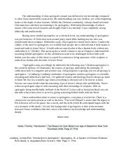 Principal Beliefs Of Christianity Essay