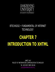 Chapter 7 Inrtoduction to XHTML.ppt