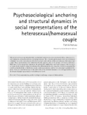 structural dynamics in social represent