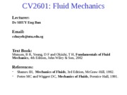 Fluid Mechanics Lecture Part 1