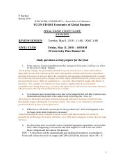 Exam FINAL Spring 2018 STUDY GUIDE ANSWERS.docx