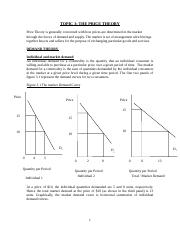 ECO 211 TOPIC 3 THE PRICE THEORY