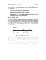 CEE377-LAB-5-Influence Lines-Solution