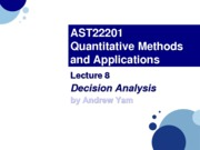 AST22201 - Lec08.Decision Analysis
