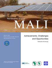 RE Mali exec summary final