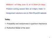 Tutorial 3 - Quantum Mechanics - Probability and Randomness