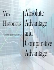 1-5 Absolute and Comparative Advantage