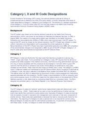 Category I II and III Code Designations