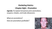 Lecture on Mktg Metrics (ch's 8 and 9)
