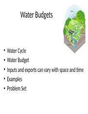 5 - Water budget 12617