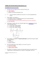 22A Stability and Control Introduction Study Questions 2