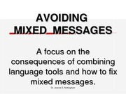 AOF6 AvoidingMixedMessages
