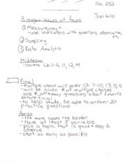 Sociology Research Methods Notes