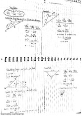 Trig, The Cosine Rule Class Notes 15