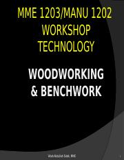 workshop3-woodworking and benchwork.pptx