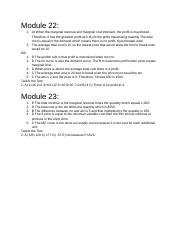 Module 22 and 23