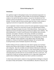 Cultural Anthropology 101 Lecture Notes Chapters 8