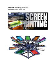 Screen-Printing Process Flow