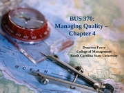 Classes 6 and 7 - Managing Quality - Chapter 4
