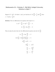 Solutions to Quiz 7 (1)