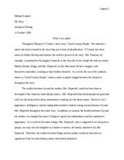Do good analysis essay