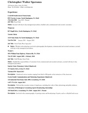 Resume Assignment 2 Digital and Professional Communications