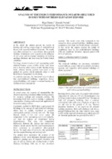 34. ANALYSIS OF THE ENERGY PERFORMANCE OF EARTH-SHELTERED HOUSES WITH SOUTHERN ELEVATION EXPOSED