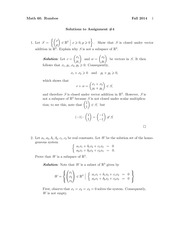 MATH 60 Fall 2014 Assignment 4 Solutions