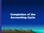 Completion of the Accounting Cycle (Presentation)